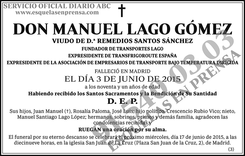 Manuel Lago Gómez